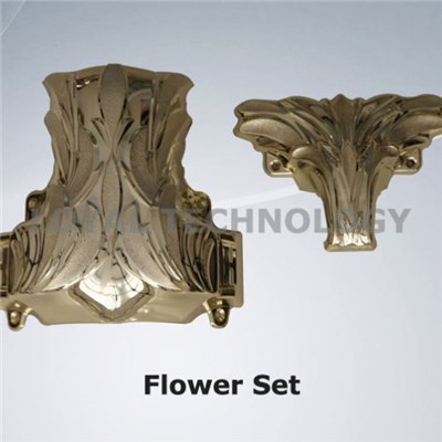 Flower Set Casket Croner with ABS or PP Material Plastic Casket Accessories