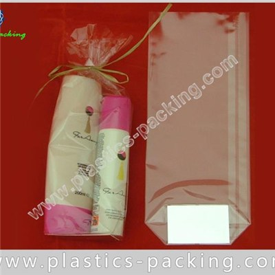 Transparent OPP Block Bottom Cellophane Bags With Flat Base 60Micron OPP Square Bottom Bags With Silver Card For Chocolate