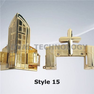Style 15 Funeral Supplies Plastic Funeral Accessory Coffin Casket Corner