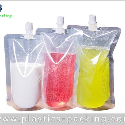 1 Liter Stand Up Pouch With Sealed Spout Cap Durable Shaped Spout Pouch Liquid Bags And Spout Pouches