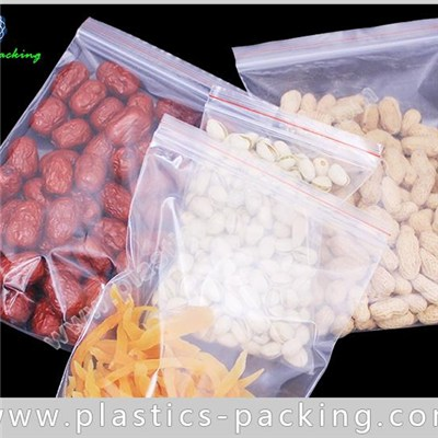 Food Grade Plastic Ziplock Bag PE Material Recloseable Pouch Clear Ziplock Bag