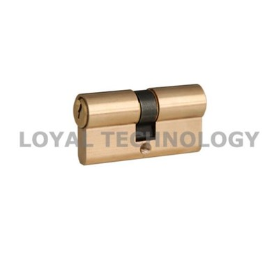 Euro Profile Double Open Cylinder Lock with Brass Keys