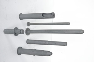Refractory Reaction Bonded Silicon Carbide (RBSIC or SiSiC) Ceramic Thermocouple Protection Tubes