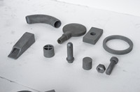 Customised Refractory Reaction Bonded Silicon Carbide Ceramic (RBSIC or SiSiC) Special-shaped Parts