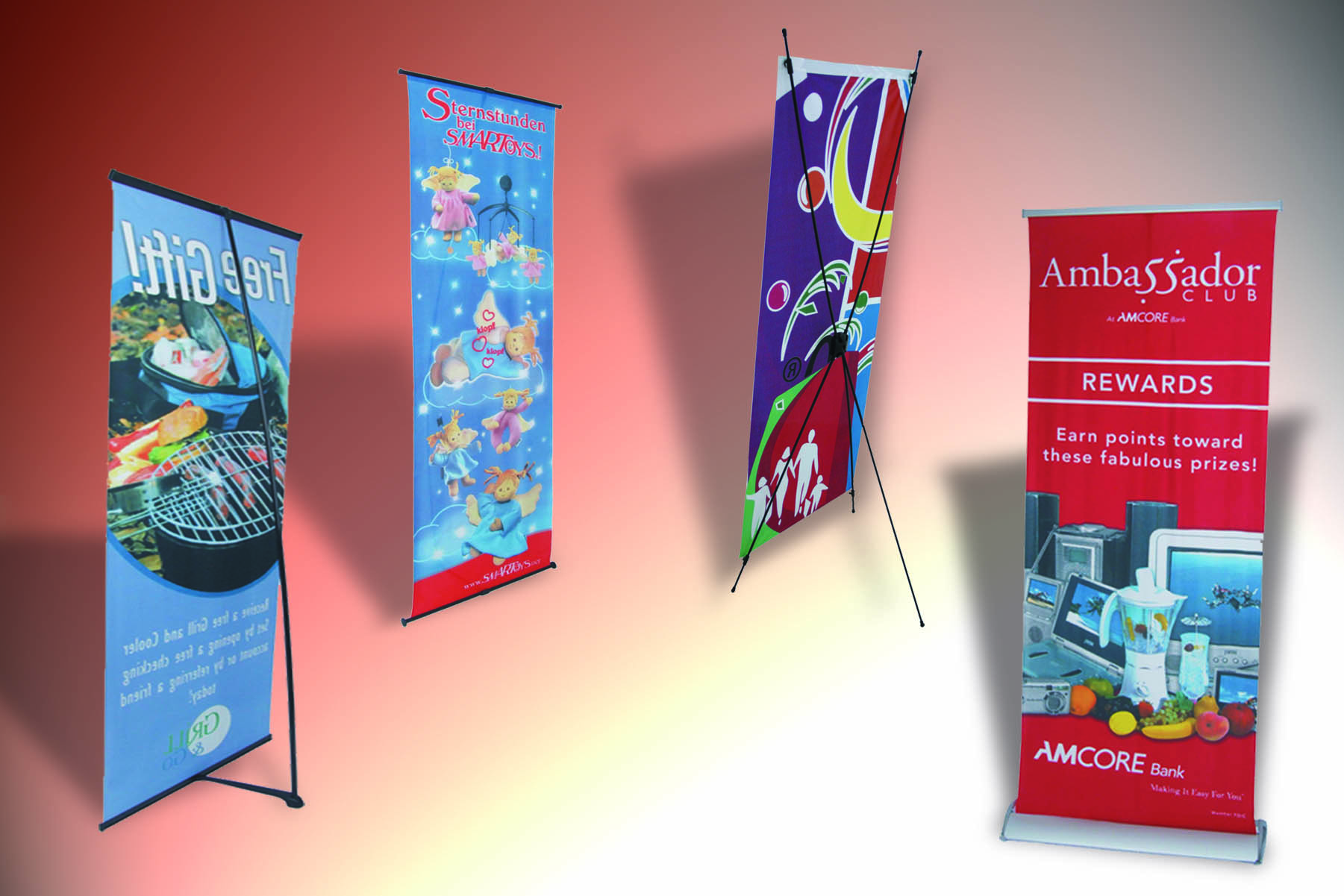 economic promotion exhibition X banner stand easy to use
