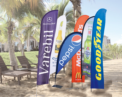 high quality Customized outdoor using beachflag Classic for advertising