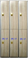 2  tiers doors HPL compact locker for office staff or gym