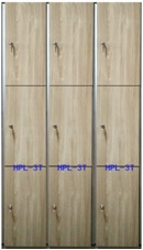 3  tiers doors HPL compact locker for gym or fitness center changing room