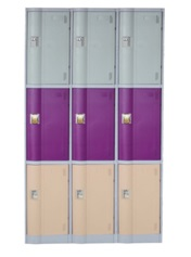LE32-3 ABS engineering plastic gym or swimming pool locker cabinet