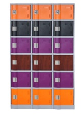 LE32-4 ABS engineering plastic gym storage locker