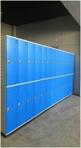JS38-2 ABS engineering plastic factory staff locker cabinet