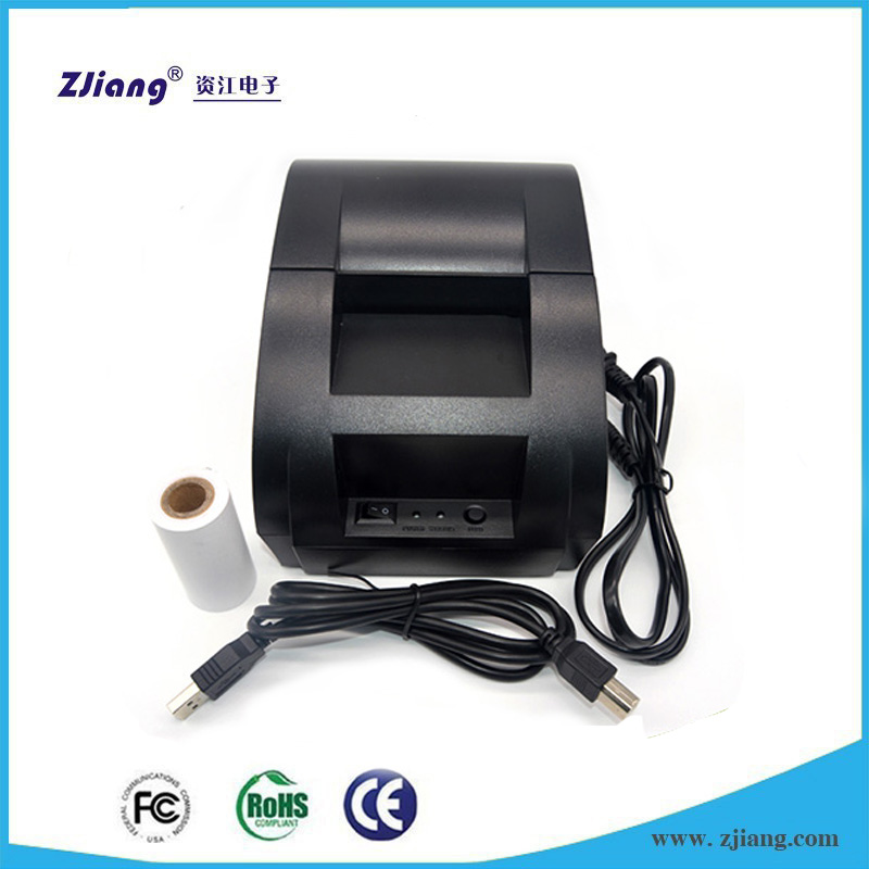 Mini supermarket 58mm thermal USB ticket receipt printer with free driver CD for small business 5890K