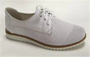 white classic  Full grain leather shoes  (style no.23226,BRAND: CARE)