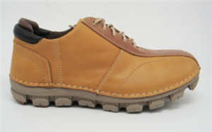 LACE UP LEATHER MEN SHOES WITH SOFT OUTSOLE (CAP60602, BRAND: CARE)