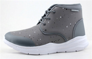 GREY MEN LEATHER UPPER WITH SPOTS PRINTING WITH PHYLON OUTSOLE boots(R50301H, BRAND: CARE)