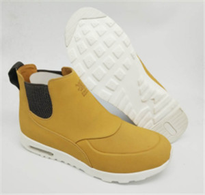 camel nuback action leather shoes upper with emboss  (CAS66010, BRAND: CARE)
