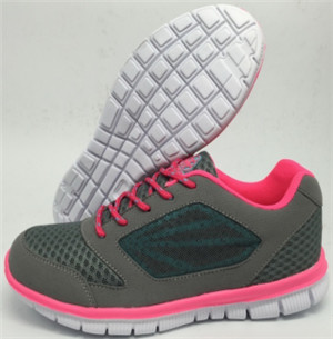 lady grey/pink running shoes with mesh upper (CAY62021, BRAND: CARE)