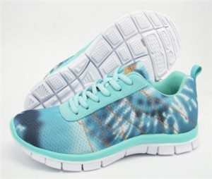 lady blue running shoes with special printing mesh  for uppers(CAY62019, BRAND: CARE)