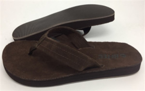 cow suede slipper  leather upper(ALGARVE W,brand:CARE)