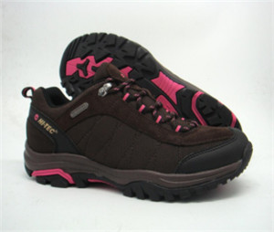 BROWN SUEDE LEAHER hiking shoes AND CANVAS UPPER WITH DOUBLE-COLORED LACE(CAH63014, BRAND: miss 8)