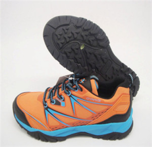 ORANGE PU UPPER climbing shoes WITH EMBOSSED ORNAMENT(CAR15-236, BRAND:CARE)