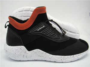 middle cut black pu upper phylon men sport casual shoes with seamlessness and orange collar binding(CAS61131, BRAND: CARE)