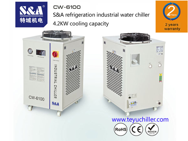 S&A water chiller for laser machines and CNC milling machines