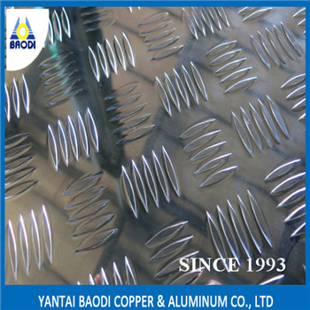 Anti-slipping & stair steps Aluminium checkered plate five bar/aluminum tread plate 3003,5052