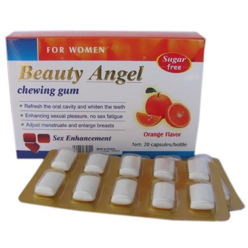 beauty angel female sex enhancement chewing gum orange flavor