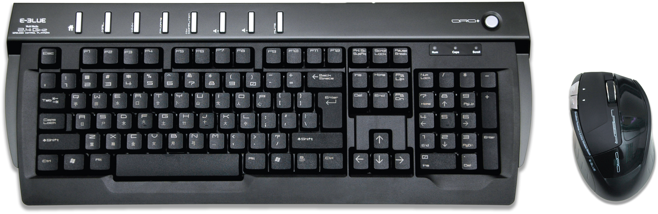 Oro+ Laser 2.4G Wireless Keyboard + Laser Mouse Combo