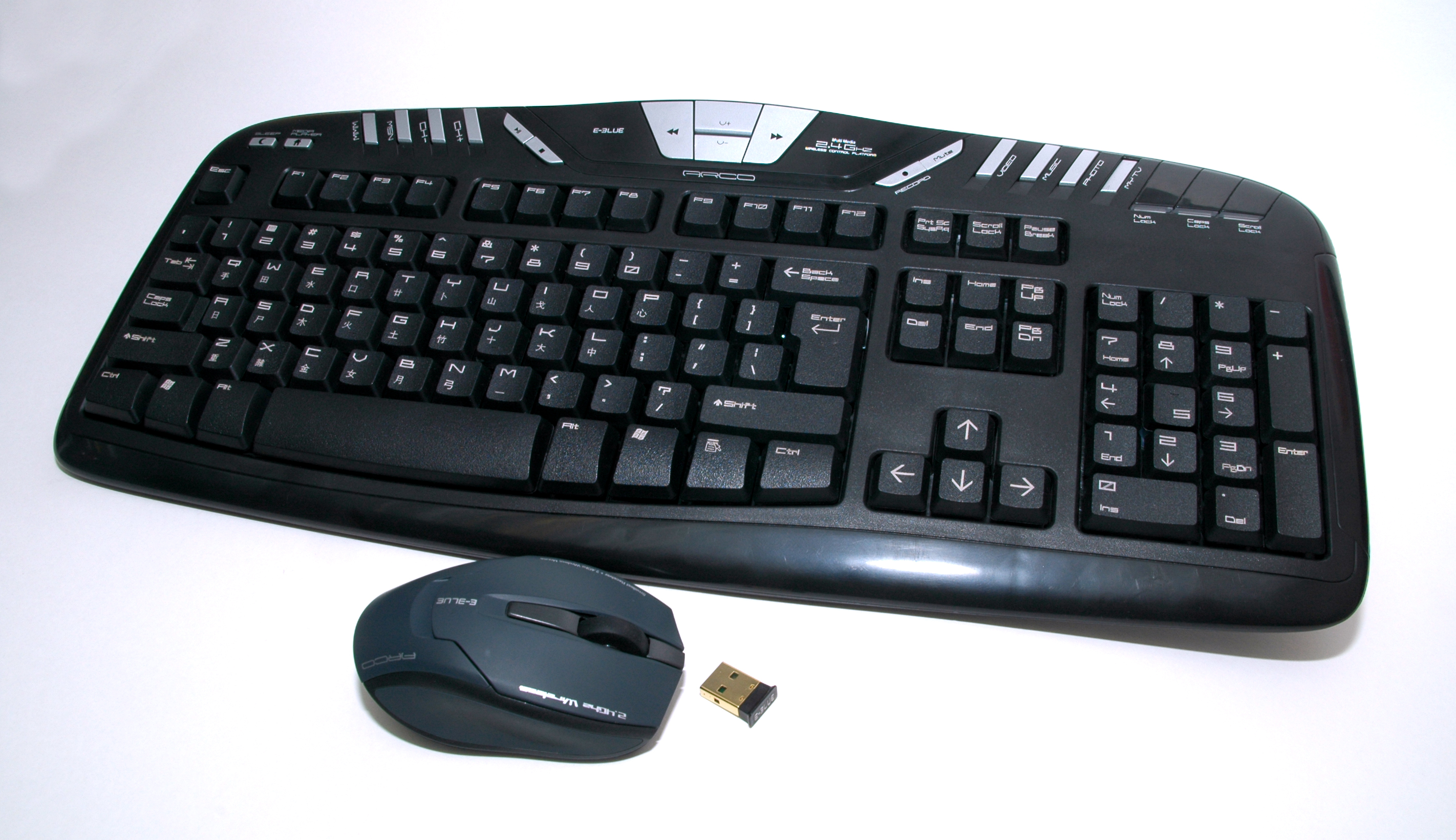 Arco+ Laser 2.4G Wireless Keyboard + Laser Mouse Combo
