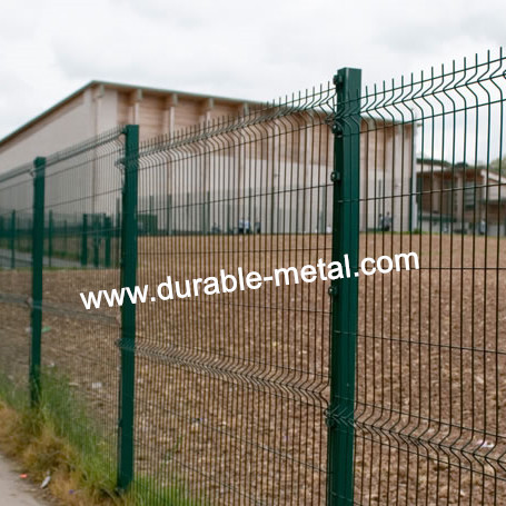 Square Post PVC Coated Wire Mesh Fence