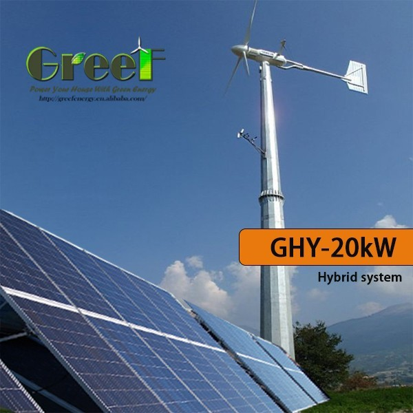 High-efficiency vertical axis-wind turbine / permanent magnet generator with a power of 1 kW, 2 kW, 3 kW, 5 kW