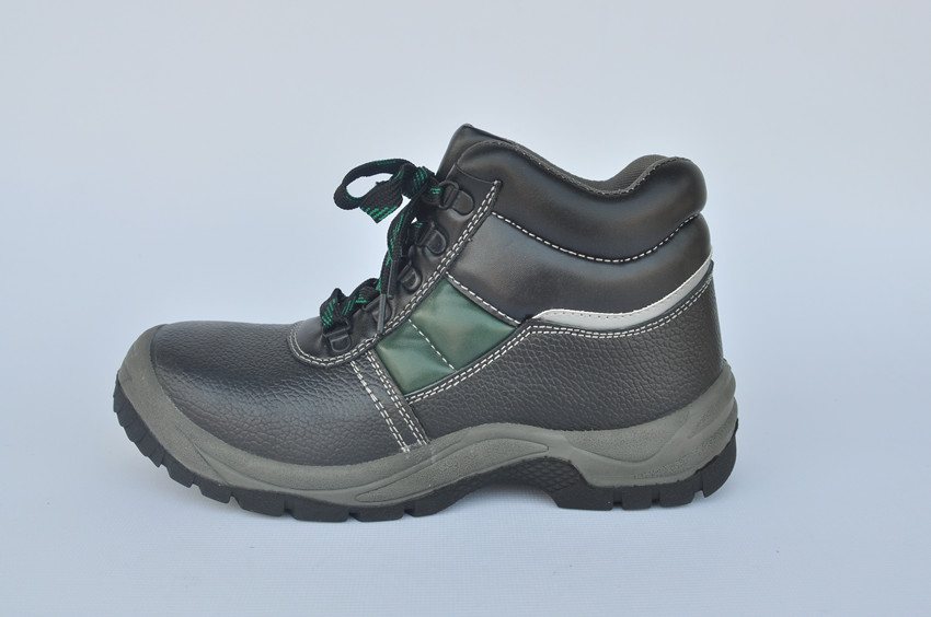 PU injection high cut safety shoes and genuine leather safety shoes and logistics safety shoes WXHC-P003