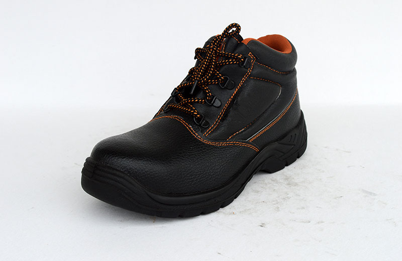 HIGH CUT PU INJECTION COW LEATHER WORK SAFETY SHOES