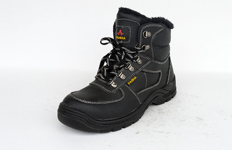 Made in China high quality cheap Middle Cut PU injection safety work shoe