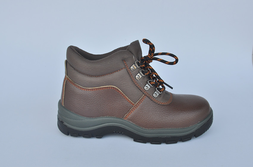 injection cheapest price leather black safety footwear for indsutrial