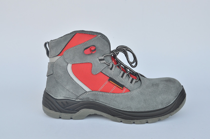 CE approved steel toe insert suede leather casual safety shoes for work time