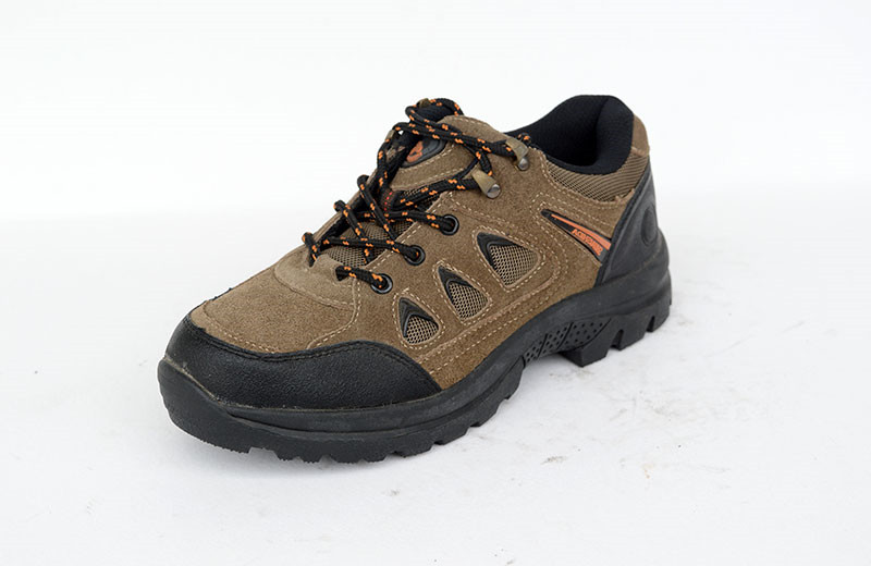 Long use suede leather mens low cut safety shoes Plastic toe cap safety shoes for women WXLC-P003
