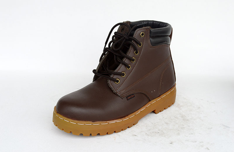 Safety Shoes rubber sole,leather work safety boots