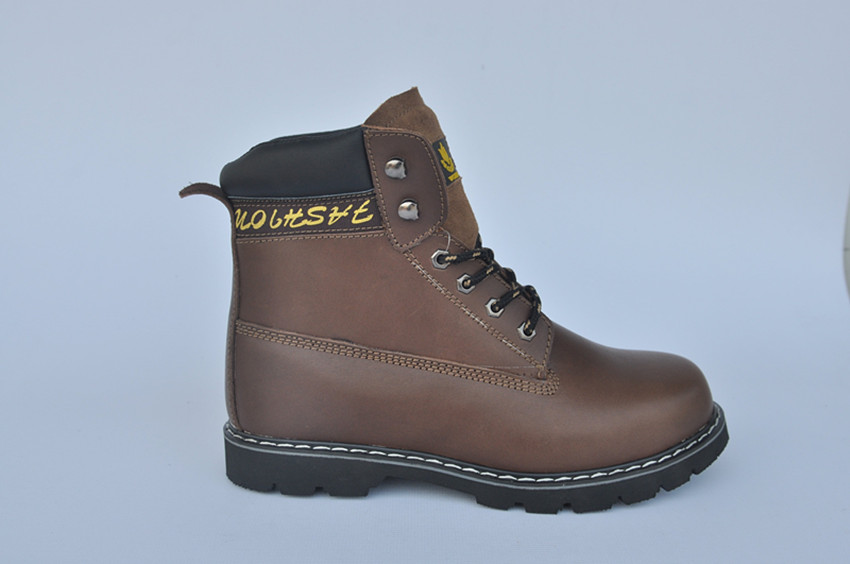 COW leather working shoes rubber sole CE EN 20345 safety footwear shoes