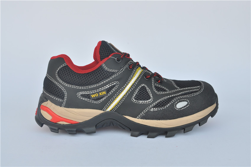 Comfortable metal free fiberglass toe cap for nubuck safety shoes