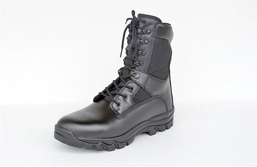 China QINGDAO Full grain leather combat military boots
