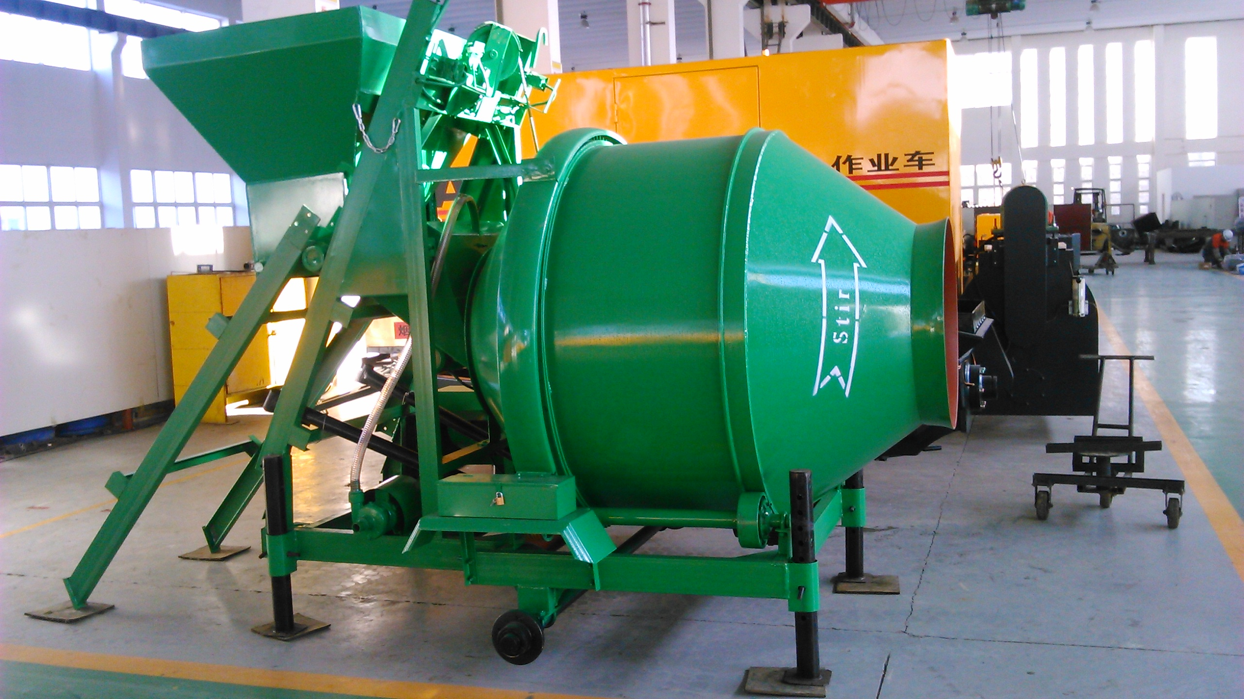 drum rotating concrete mixer