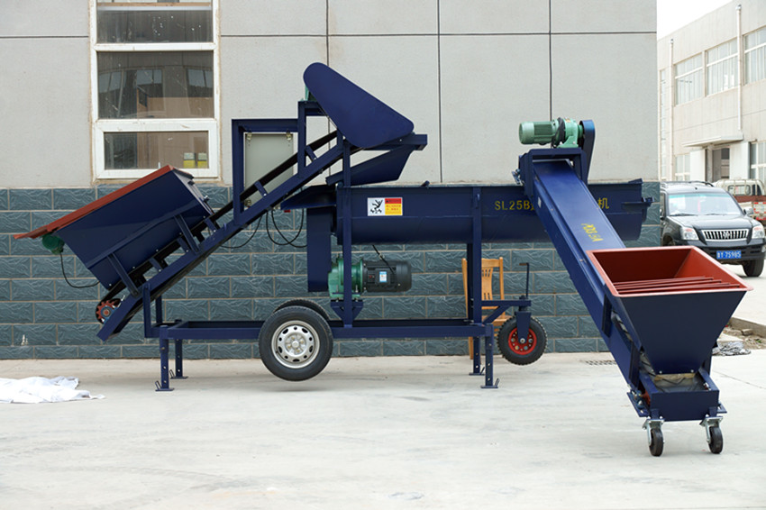 continuous feeding concrete mixer