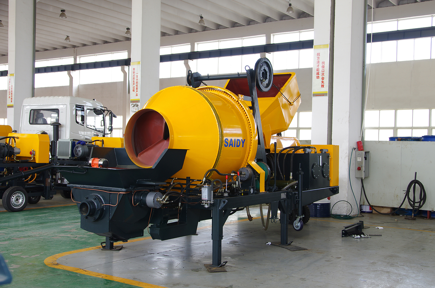 concrete/cement mixer with pump function