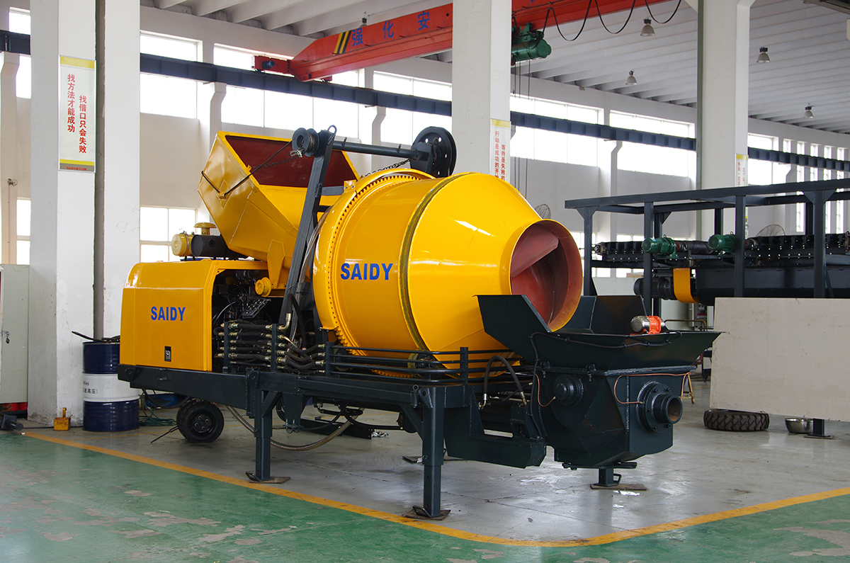30m3/h concrete pumping mixer/mixing machine with hydraulic pump