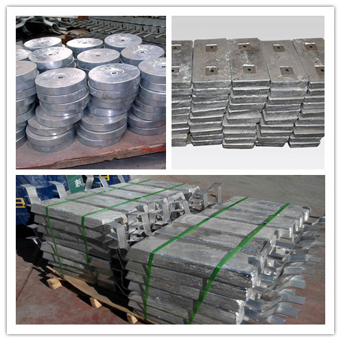 Zinc Hull Ballast Tank Sacrificial Anode For Platforms/Marine Structure/Piers/Pilings