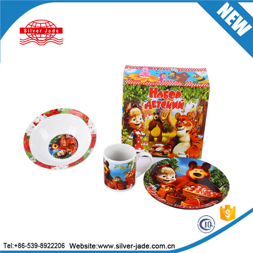children ceramic dinner tableware set/table set with cartoon design and style