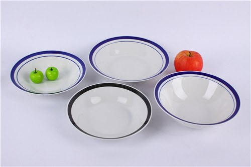 fine ceramic wholesale Footed ceramic bowl wholesale with flower decal